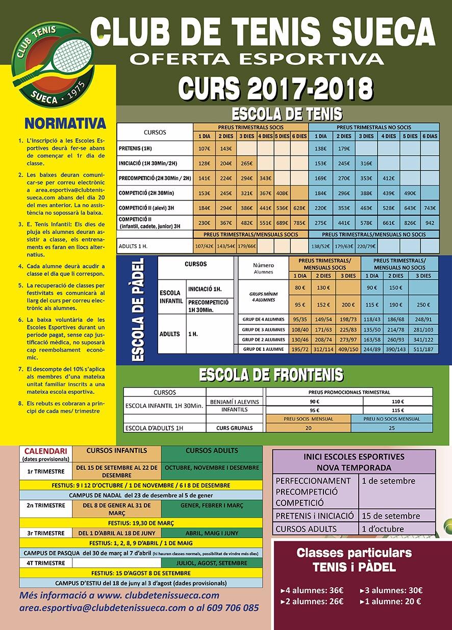 OFERTA ESPORTIVA TEMPORADA 2017- 2018