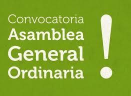 CONVOCATÒRIA A L'ASSEMBLEA GENERAL ORDINÀRIA / CONVOCATORIA A LA ASAMBLEA GENERAL ORDINARIA