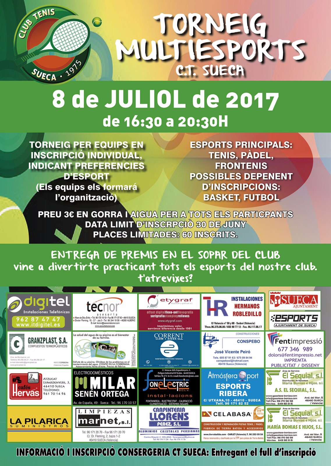 TORNEIG MULTIESPORT. CLUB TENIS SUECA